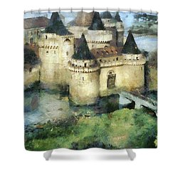 Medieval Knight's Castle Shower Curtain