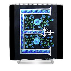 Medieval Letter E Shower Curtain