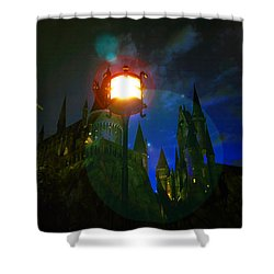 Medieval Night Shower Curtain by David Lee Thompson