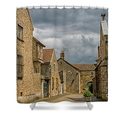 Medieval Village In France Shower Curtain