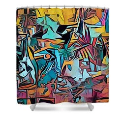 Meditating On And Contemplating Abstract Art Creates A Space Of Pure Perception Where Hope And Fear  Shower Curtain