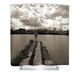 Meditation Shower Curtain by Beto Machado
