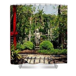Meditation Garden Shower Curtain by Susanne Van Hulst