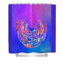 Shower Curtain featuring the photograph Meditation In Blue by Nareeta Martin