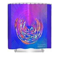 Meditation In Blue Shower Curtain by Nareeta Martin