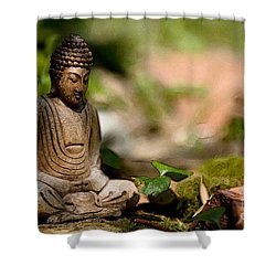 Shower Curtain featuring the photograph Meditation by Jean Bernard Roussilhe