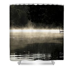 Shower Curtain featuring the photograph Meditation Morning by France Laliberte