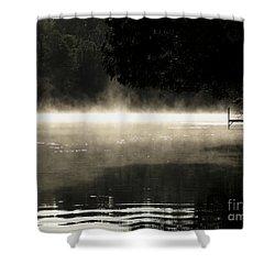 Meditation Morning Shower Curtain by France Laliberte