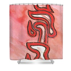Meditation On The Four Letter Name Of God Shower Curtain