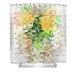 Meditation Pond Shower Curtain