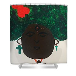 Meditation Queen  Shower Curtain