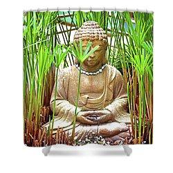 Meditation Shower Curtain by Ray Shrewsberry