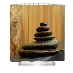 Meditation Stones Shower Curtain