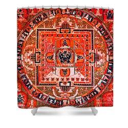 Meditation Yoga Mandala Yuan Dynasty Shower Curtain