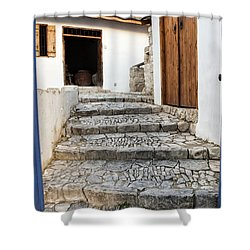 Mediteranean Old House Shower Curtain