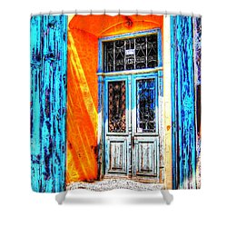 Mediterranean Door Delight Shower Curtain
