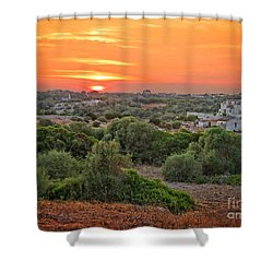 Mediterranean Landscape Shower Curtain by Dee Flouton