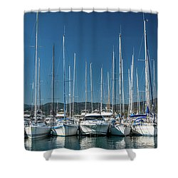 Mediterranean Marina Shower Curtain