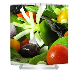Mediterranean Salad Shower Curtain