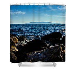 Mediterranean Sea - Argentario Shower Curtain