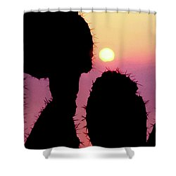 Mediterranean Sunrise Shower Curtain