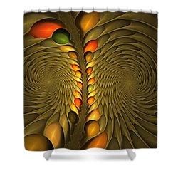 Meditirina Seed Pod Shower Curtain