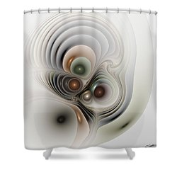 Medulla Shower Curtain by Casey Kotas