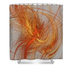 Medusa Bad Hair Day - Fractal Shower Curtain by Menega Sabidussi