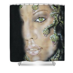 Medusa Shower Curtain by John Sodja
