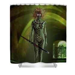 Medusa Shower Curtain by Scott Meyer