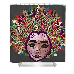 Medusa With Transparent Background Shower Curtain