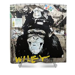 Meet Wiley In New York  Shower Curtain by Funkpix Photo Hunter