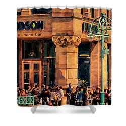 Meet You At Hudson's Shower Curtain by David Blank