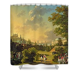 Meeting Between Napoleon I And Ferdinand IIi Shower Curtain by Hippolyte Lecomte