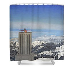 Meeting Table Oil On Canvas Shower Curtain
