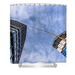 Meeting The New Neighbor Shower Curtain by Randy Scherkenbach