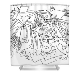 Meeting Under The Stars Shower Curtain