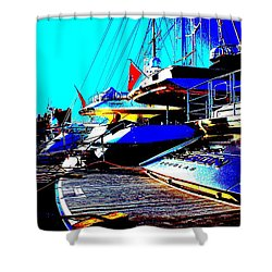 Mega Yachts Shower Curtain