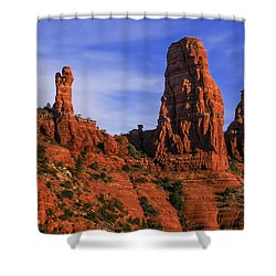 Shower Curtain featuring the photograph Megalithic Red Rocks by Mark Myhaver