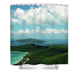 Megan's Bay St. Thomas Shower Curtain