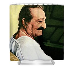 Meher Baba 3 Shower Curtain by Nad Wolinska
