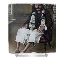Meher Baba Shower Curtain by Nad Wolinska