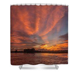 Shower Curtain featuring the photograph Mekong Sunset 3 by Werner Padarin