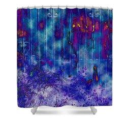 Melancholy Blue Shower Curtain