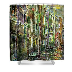 Shower Curtain featuring the painting Melanconia by Alfred Motzer