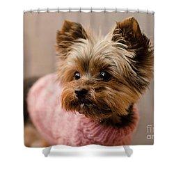 Melanie In Pink Shower Curtain