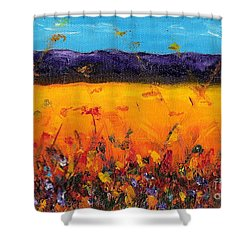 Melissa's Meadow Shower Curtain by Frances Marino