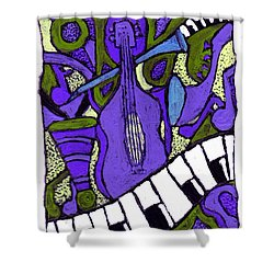 Melllow Jazz Shower Curtain
