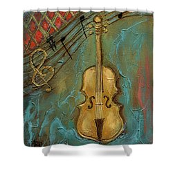 Mello Cello Shower Curtain by Terry Webb Harshman
