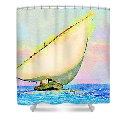Shower Curtain featuring the painting Mellow Dawn by Angela Treat Lyon